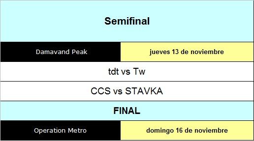 Fixture semi final y FINAL 1210