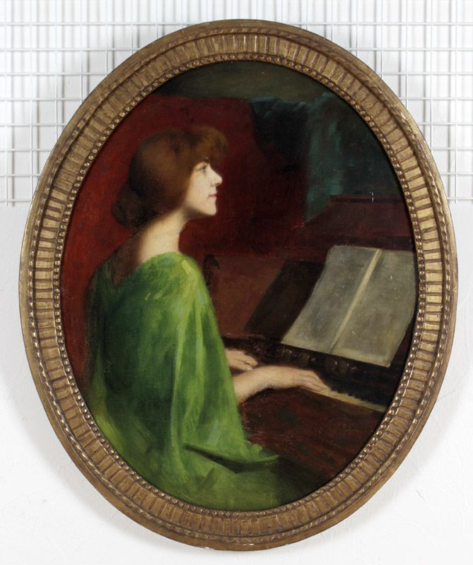 Tableau: jeune fille à l'harmonium Fille_10