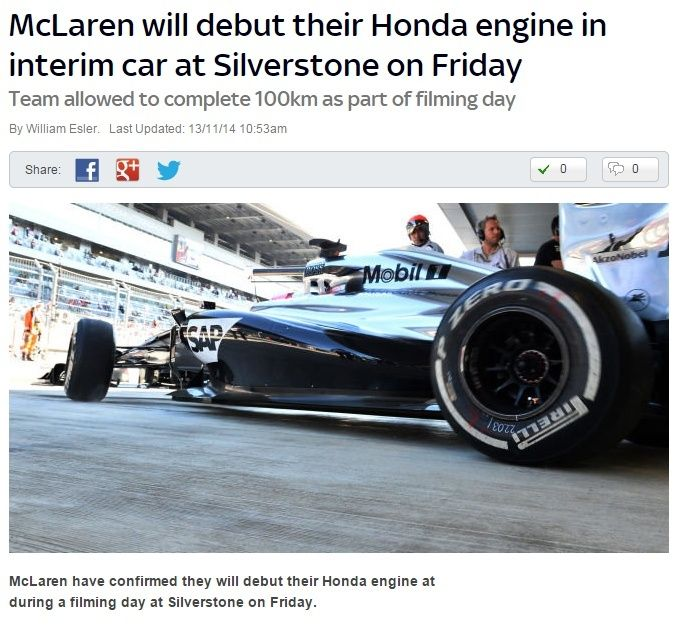 McLaren to debut Honda engine at Silverstone on Friday 7c4de410