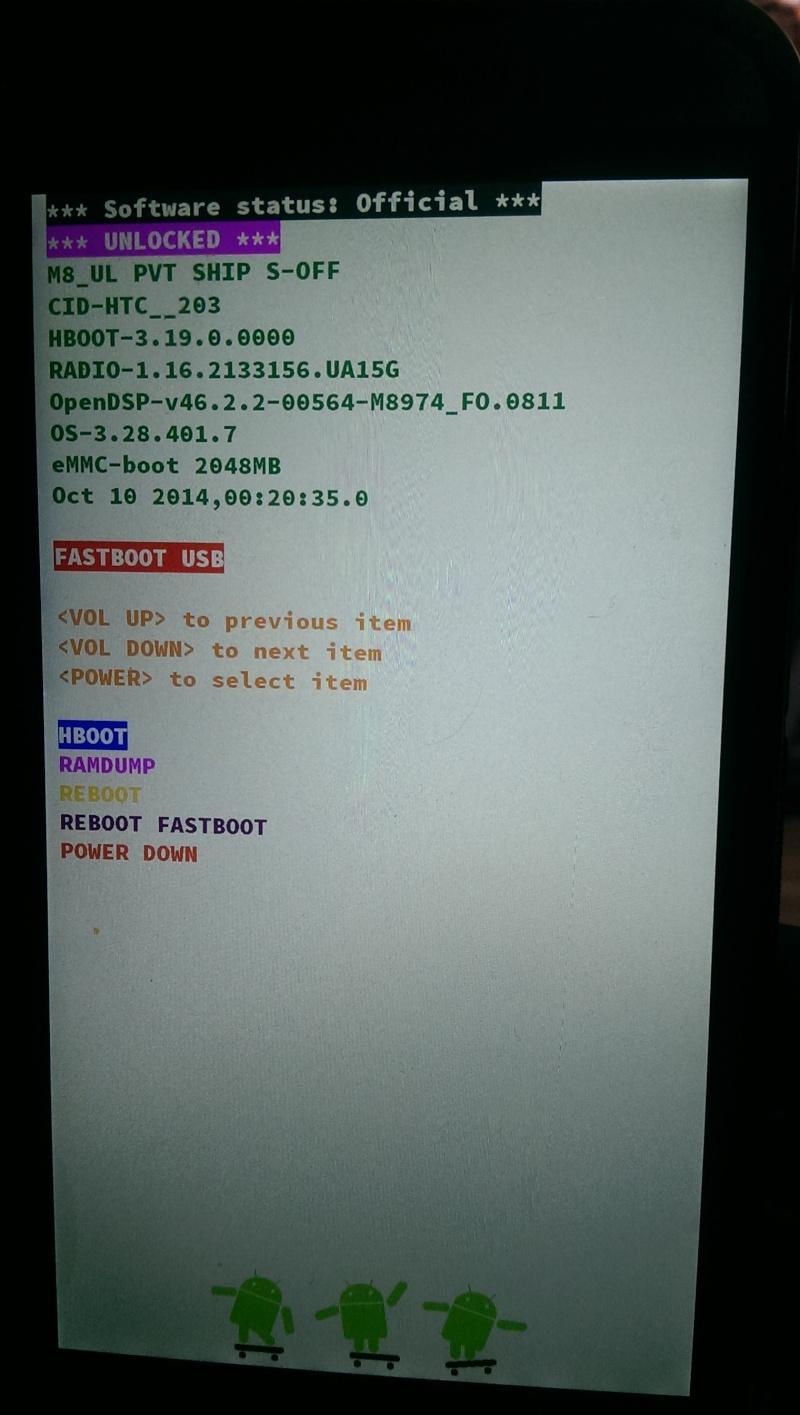 [MOD] Supprimer le message en rouge sur l'écran de démarrage | S-OFF requis | Htc One (M8) - Page 3 Hboot10