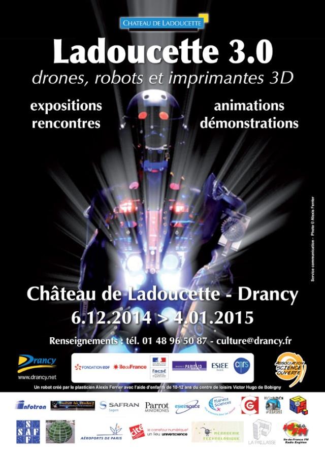 Drones, Robots, imprimantes 3D / Exposition du 6 décembre 2014 au 4 janvier 2015 à Drancy (93) Affich10