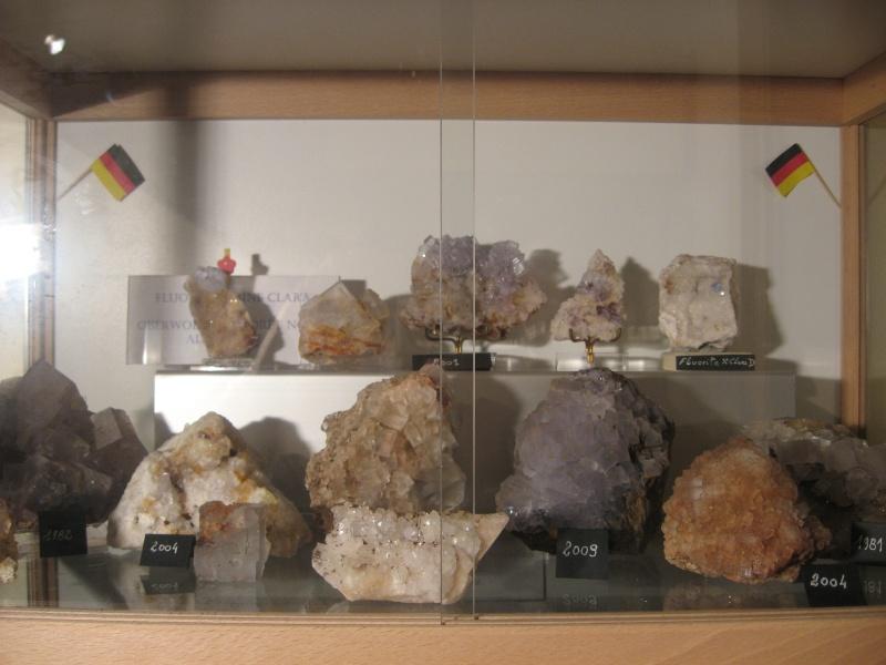 Différentes fluorites de la mine CLARA 02210
