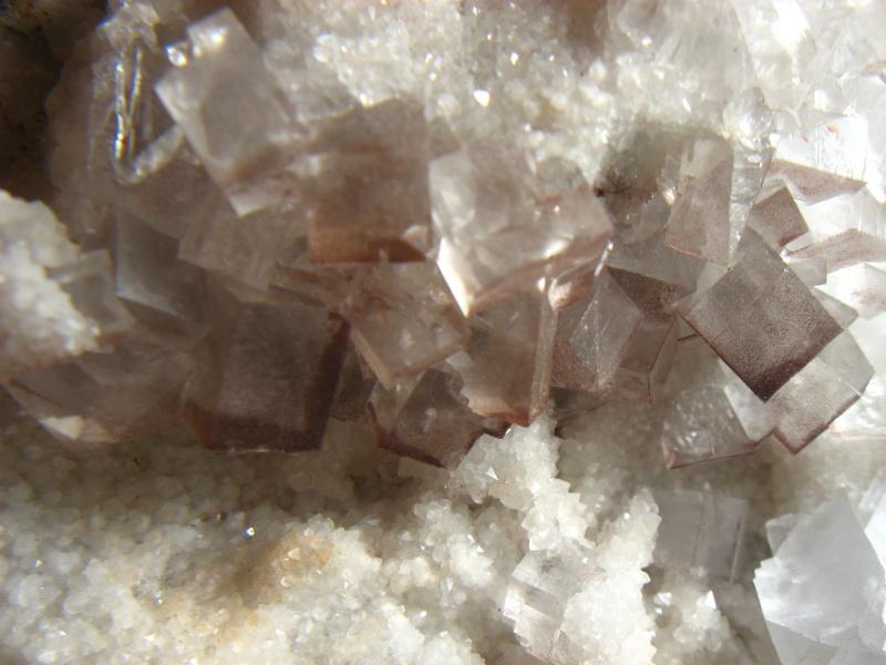 Différentes fluorites de la mine CLARA 02411