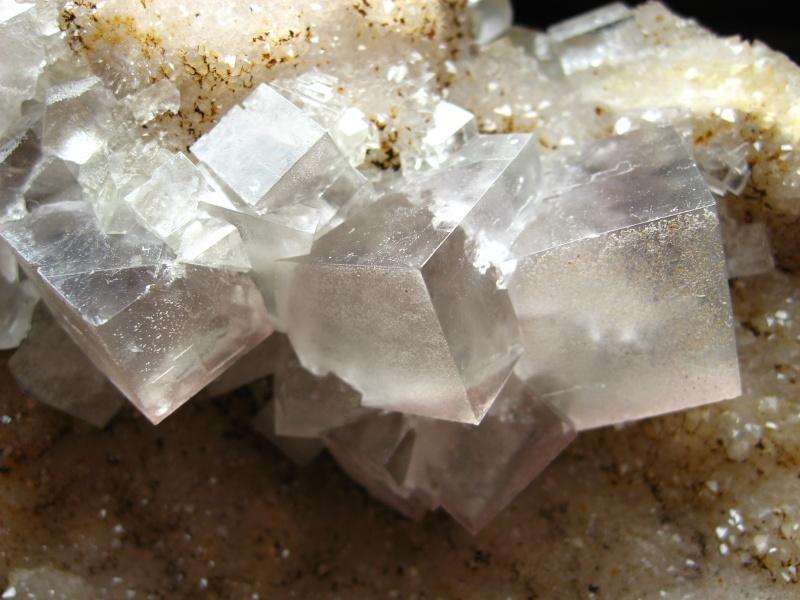 Différentes fluorites de la mine CLARA 06510