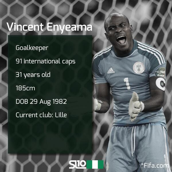 BBC 2014 African Footballer of the Year award, Please vote Vincent Enyeama Here Enyiam10