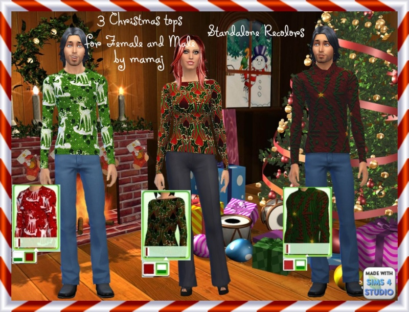 Christmas Tops for male and female by mamaj 3_chri10