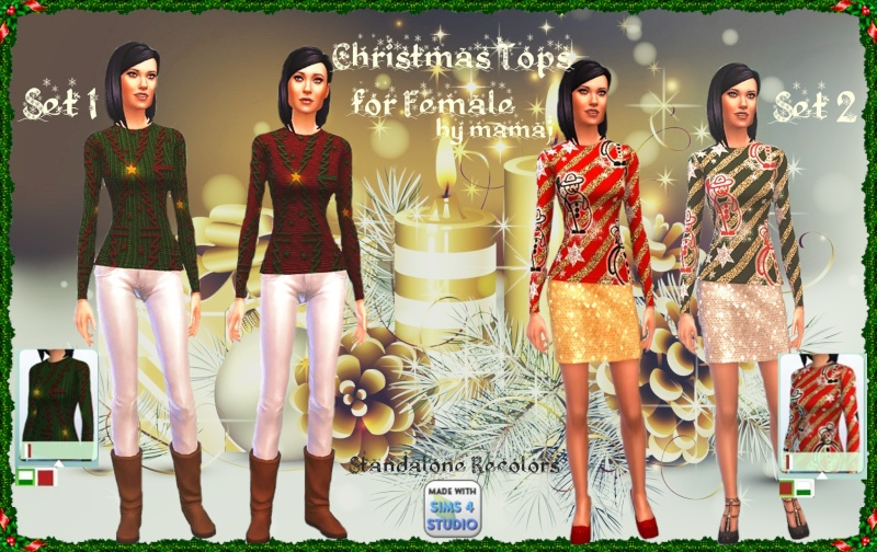 Christmas Tops for Females by mamaj Christ10