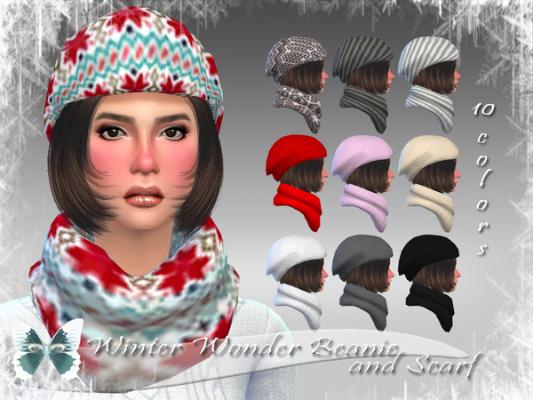 Winter Wonder Beanie and Scarf by Ms Blue W-600h13