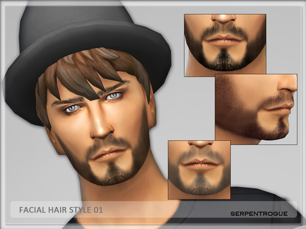 Facial Hair Style 01 by Serpentrogue W-600h14