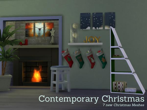 Angela's Contemporary Christmas Decorations W-600h16