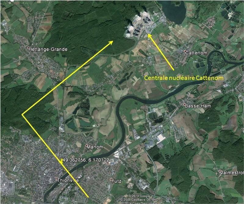 2008: le 11/05 à 22h50 - Ovni triangulaire volant -  Ovnis à THIONVILLE - Moselle (dép.57) Thionv11