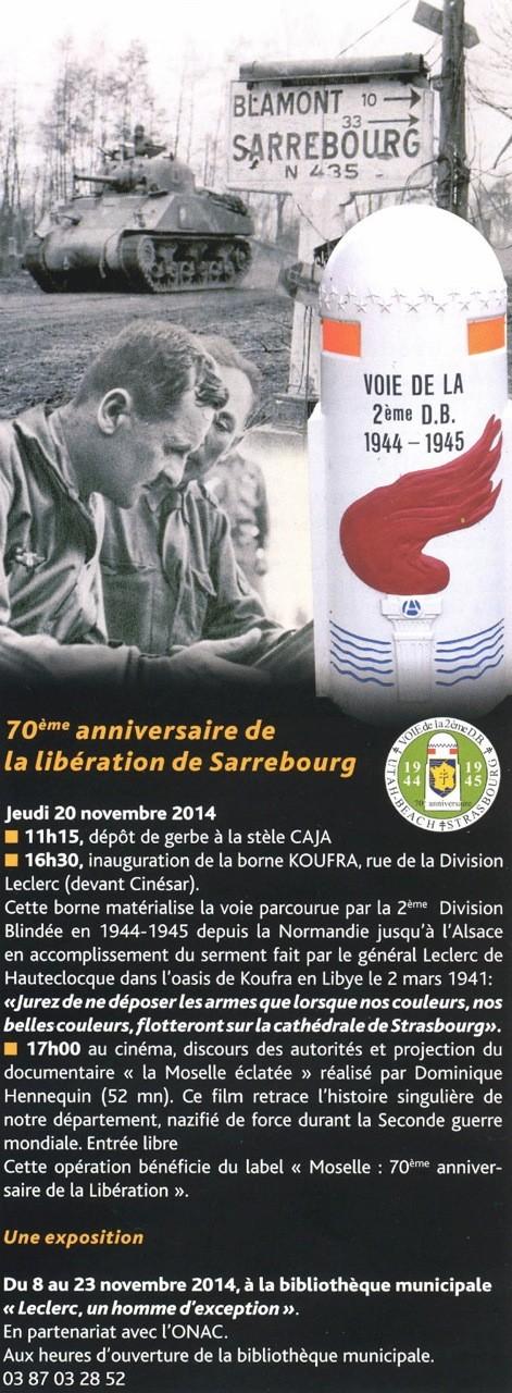 Borne du serment de Koufra: SARREBOURG (57) 0001qf10