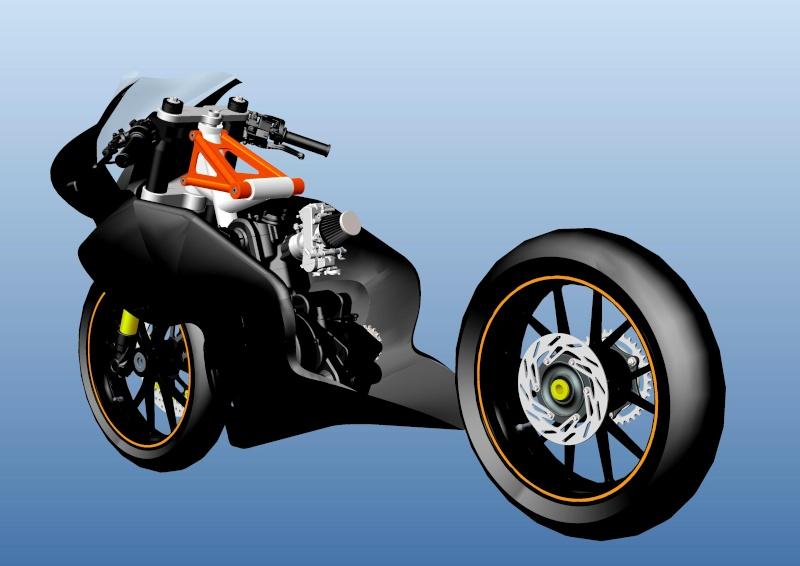 LC4 640 Racer... en 3D !!  - Page 2 Cadre100