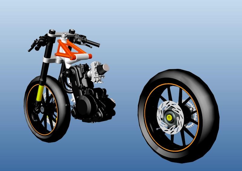 LC4 640 Racer... en 3D !!  - Page 2 Cadre101
