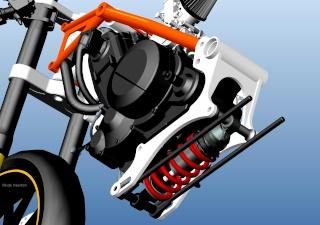 LC4 640 Racer... en 3D !!  - Page 4 Cadre106
