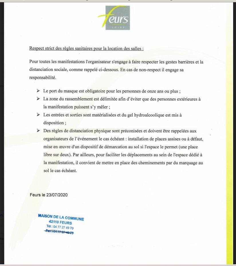 RE-OUVERTURE Normes10