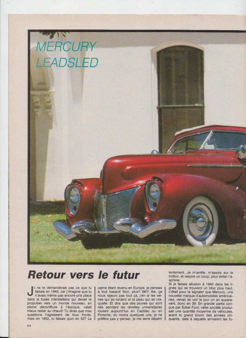 Mercury '40 leadsled - Barris - Customania n°53 Octobre 1988 110