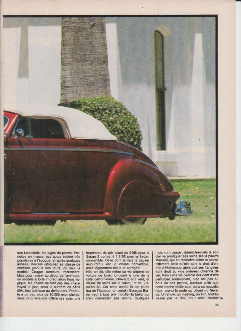 Mercury '40 leadsled - Barris - Customania n°53 Octobre 1988 210