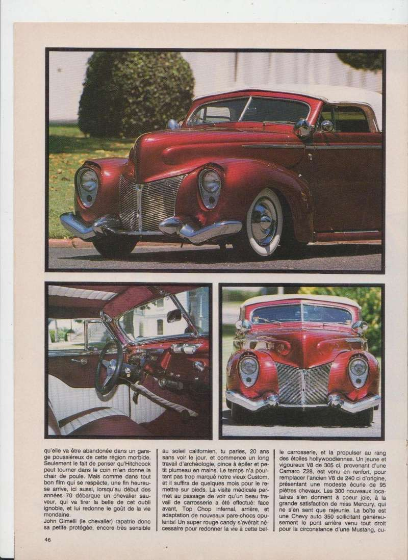 Mercury '40 leadsled - Barris - Customania n°53 Octobre 1988 310