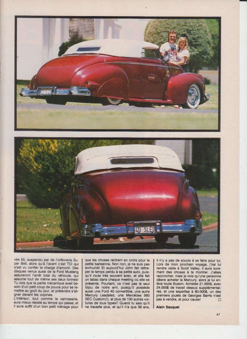 Mercury '40 leadsled - Barris - Customania n°53 Octobre 1988 410