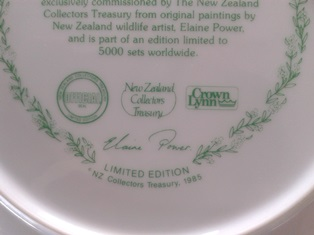 Crown Lynn bird plates Collectors Treasury  Cl_bir12