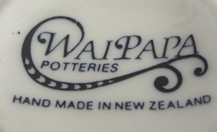 Marks for the gallery Waipapa Potteries, Lilian Jones and Manuka Pottery Margaret Pope Waipap11