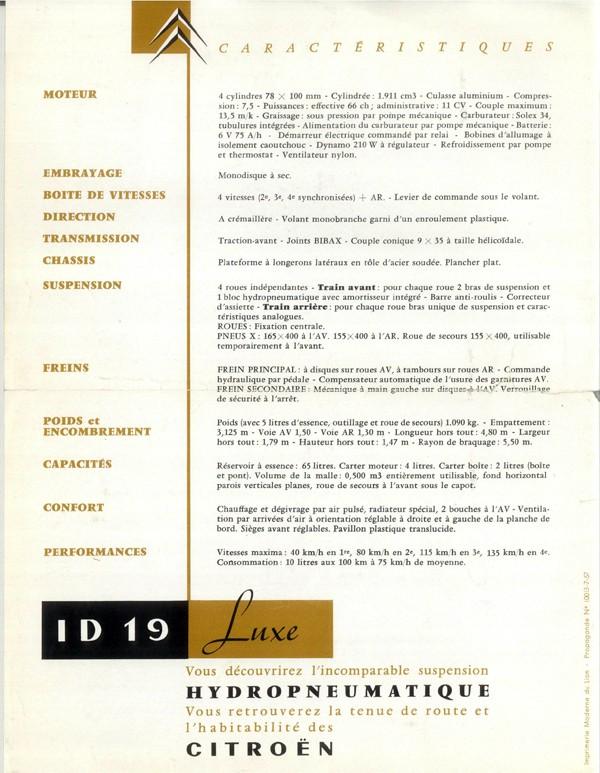 Brochure publicitaire ID19 Luxe 1958 Id19_111