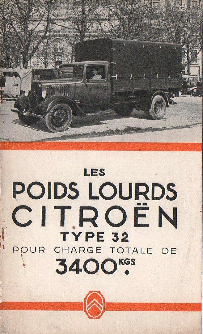 Brochure publicitaire les poids lourds Type 32 de avril 1936 Img74010
