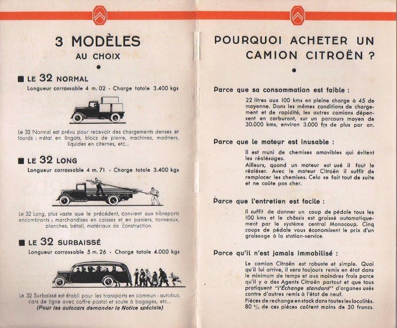 Brochure publicitaire les poids lourds Type 32 de avril 1936 Img74110