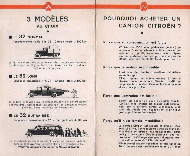Brochure publicitaire les poids lourds Type 32 de avril 1936 Img74310