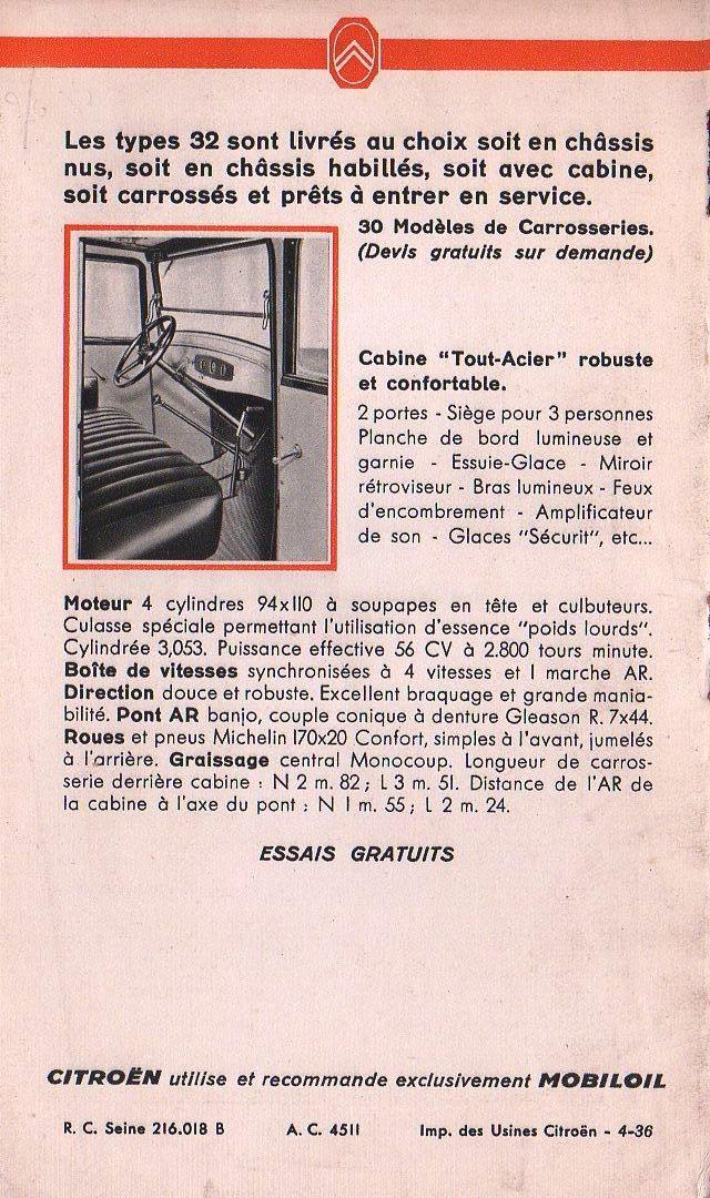 Brochure publicitaire les poids lourds Type 32 de avril 1936 Img74410