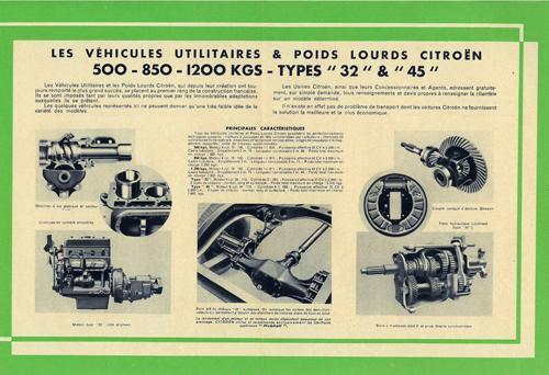 """Brochure publicitaire 500-850-1200 kgs type """"32"""" et """"45"""" S1412017"""