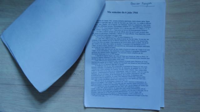 Témoignage manuscrit d'un vétéran d'Omaha Beach Dsc05220