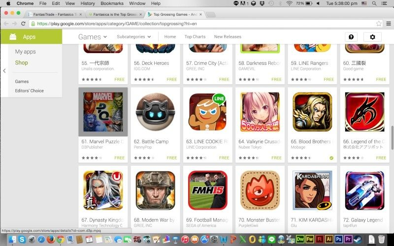 Fantasica is the Top Grossing App in Mobage (Google Play, SEA) Screen11