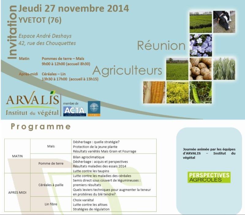 Réunions agri automne 2014 / ARVALIS - Page 3 Arvali10