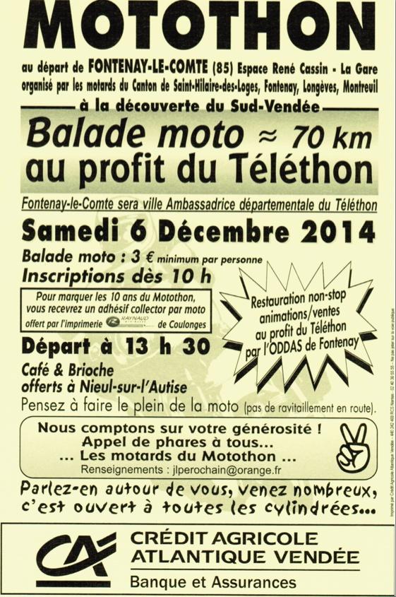 Motothon Fontenay le Comte samedi 6 décembre. Mototh10