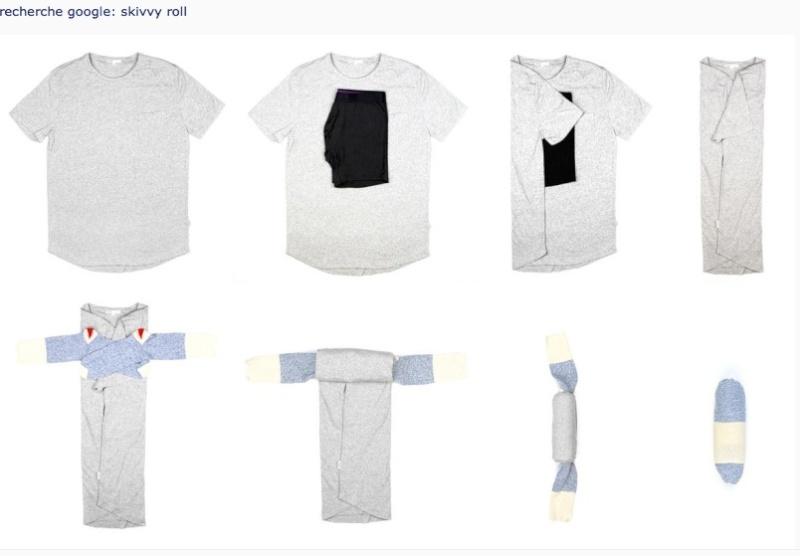 Optimiser ses vêtements pour le voyage. Skirry10