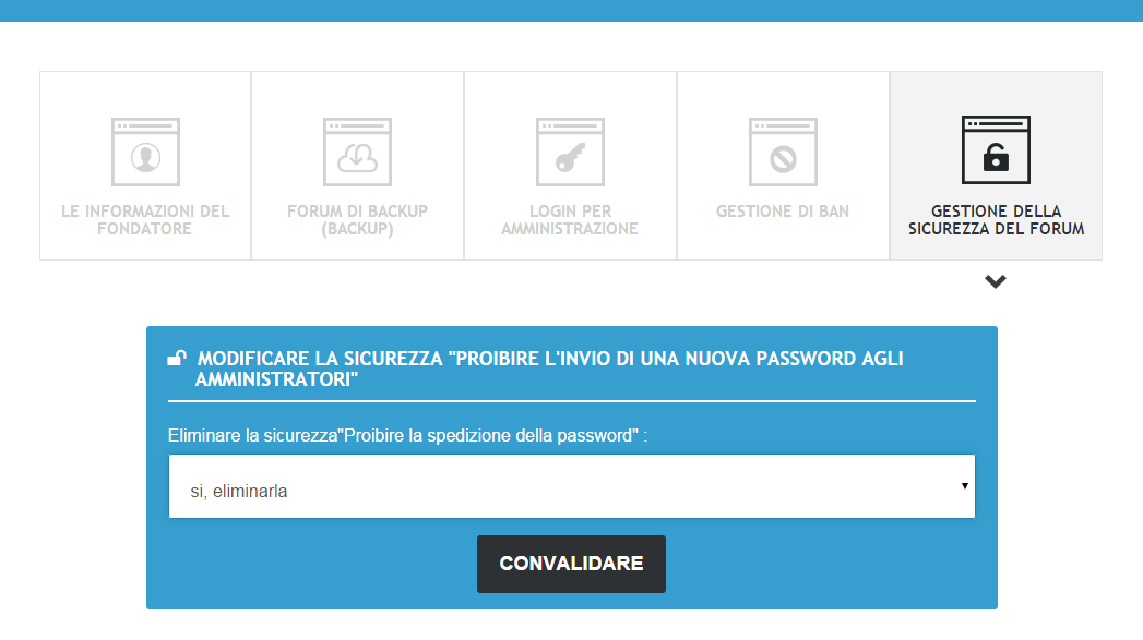Hai dimenticato o perso la tua password? Caso2a10