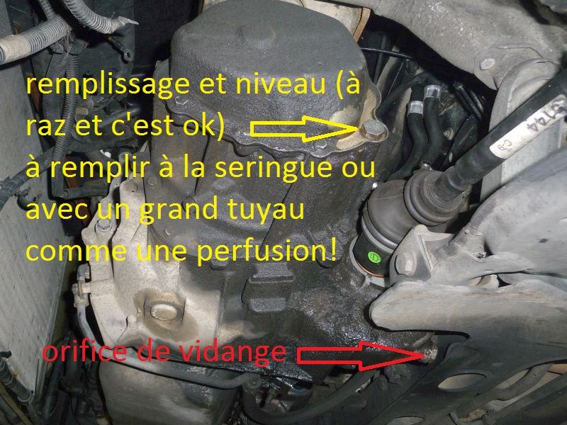 vidange boite de vitesse 405 1.9D Change10