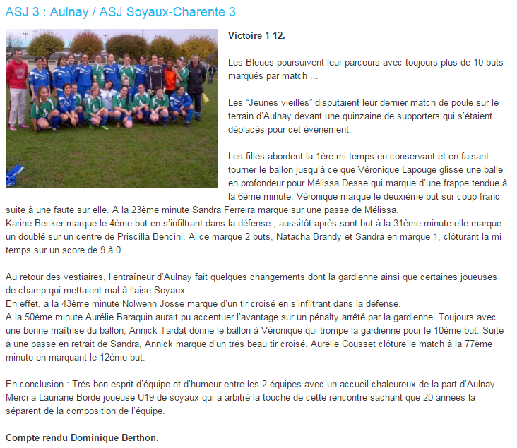 US Aulnay Féminine (District 17 ) Sans_t12