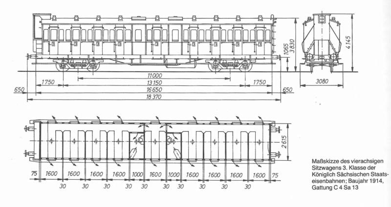Sächsischer Schnellzugwagen Typ BC4 (ohne Bremserhaus) Bc410