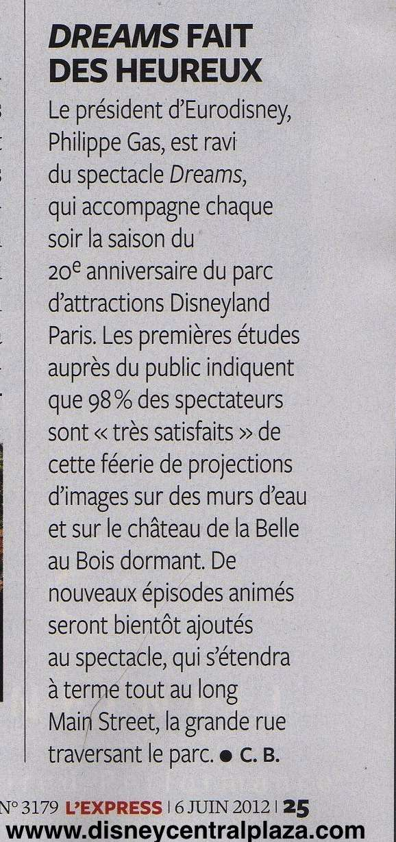 Les futures évolutions de Disney Dreams! Expres11