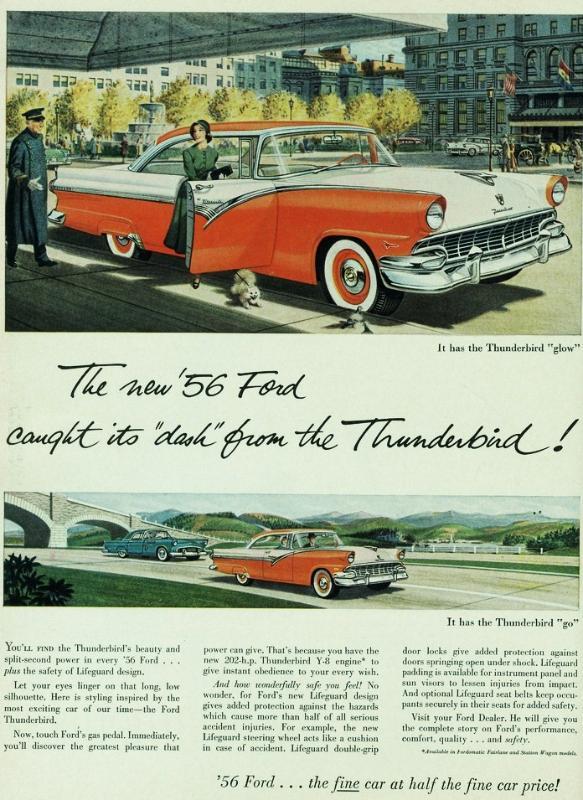 publicités vintage us  56ford10