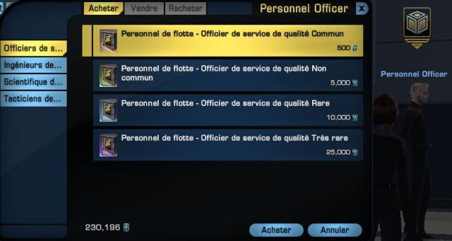 Différents moyens d'obtenir des officiers de service pour mettre dans les projets de flotte Captur20