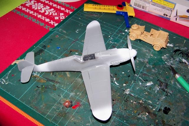 """Bf 109 G2"""" le dernier vol 30/09/1942 """"  """"der Stern von Afrika"""" Hasegawa 1/48( FINI ) 100_8822"""