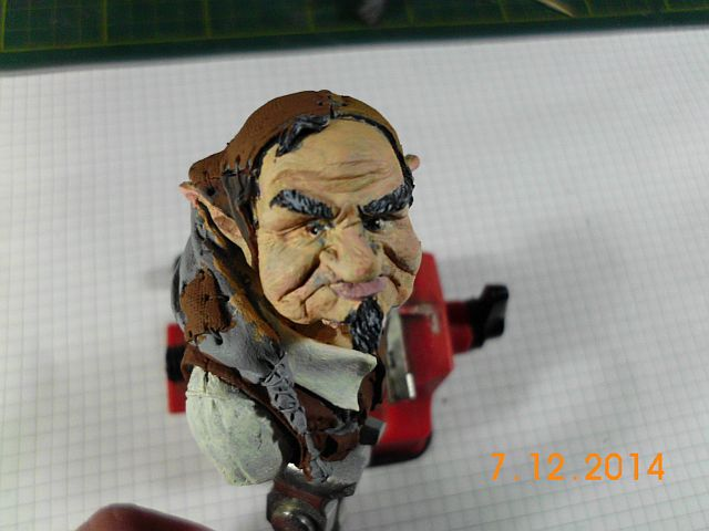 War Griffon Miniatures - Old Gnome - 50mm Büste - Fertig 223