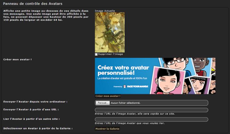 Mode d'emploi du forum : profil et avatar Pannea10