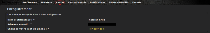 Mode d'emploi du forum : profil et avatar Profil16