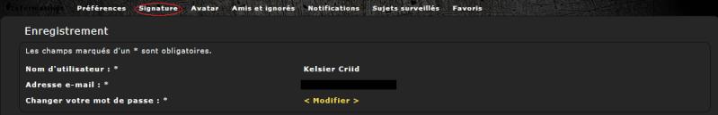 Mode d'emploi du forum : profil et avatar Profil17