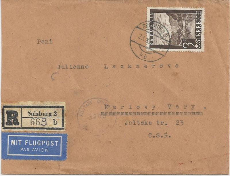 Flugpostausgabe 1947 Bild17